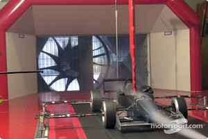 A F3 car in a wind tunnel