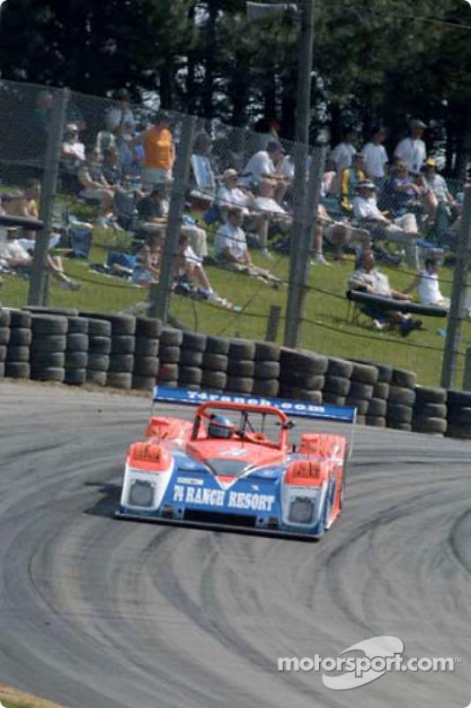 Fans watch the Robinson Racing Judd Riley & Scott race by