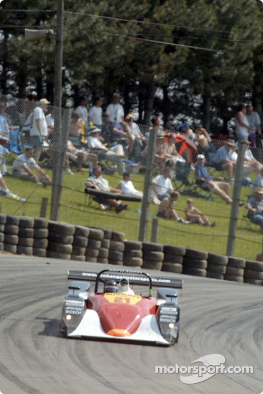 Fans watch Andy Lally through the turns at Mid-Ohio