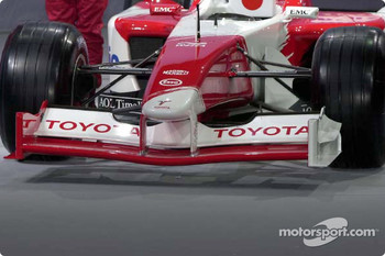 Front view of the Toyota TF102