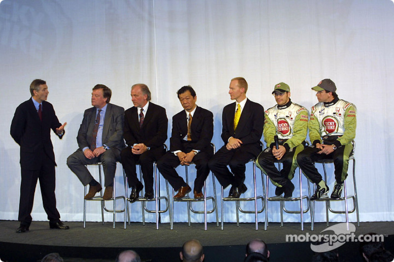 Interview with David Richards, Toru Ogawa, Malcolm Oastler, Jacques Villeneuve and Olivier Panis