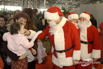 The traditional Childrens Christmas at Ferrari: Michael Schumacher, Luca Badoer and Rubens Barrichello