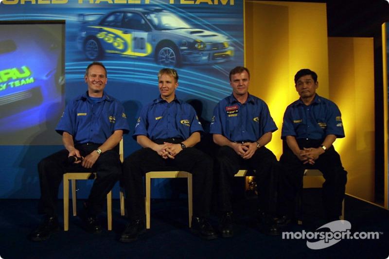Team Subaru: Petter Solberg and Tommi Makinen