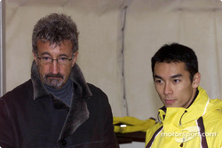 Eddie Jordan and Takuma Sato