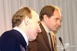 Frank Williams and Gerhard Berger