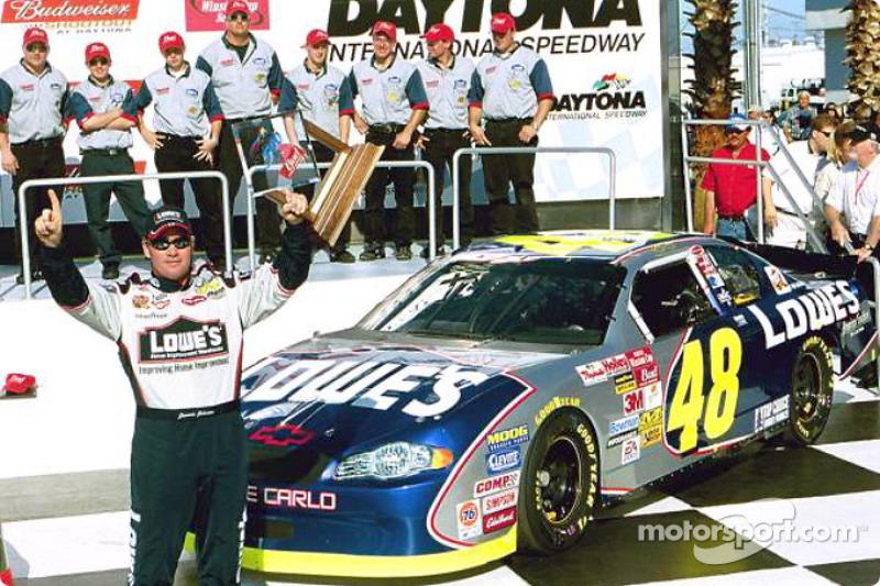 2002 Daytona 500 Bud Pole Award winner Jimmie Johnson