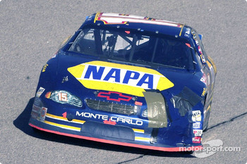Michael Waltrip and Bobby Labonte had an early race altercation damaging the left front of the NAPA Monte Carlo