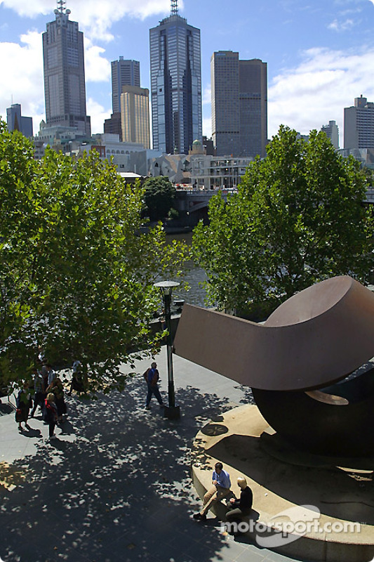 Downtown Melbourne, view from Southgate