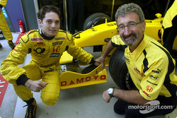 Giancarlo Fisichella and Eddie Jordan