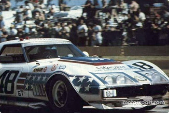 Dick Smothers in the Chevrolet Corvette of John Greenwood Racing