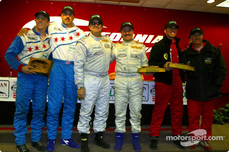 The GT podium finishers at the Grand American 400