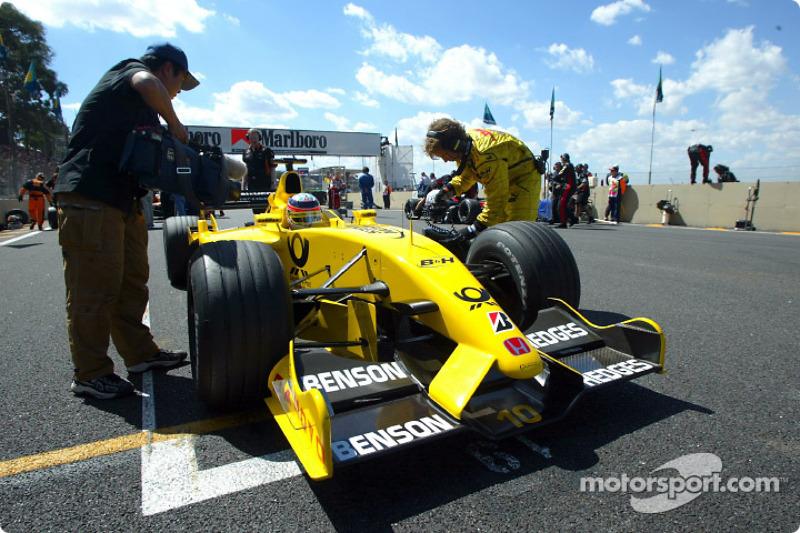 Takuma Sato on the grid