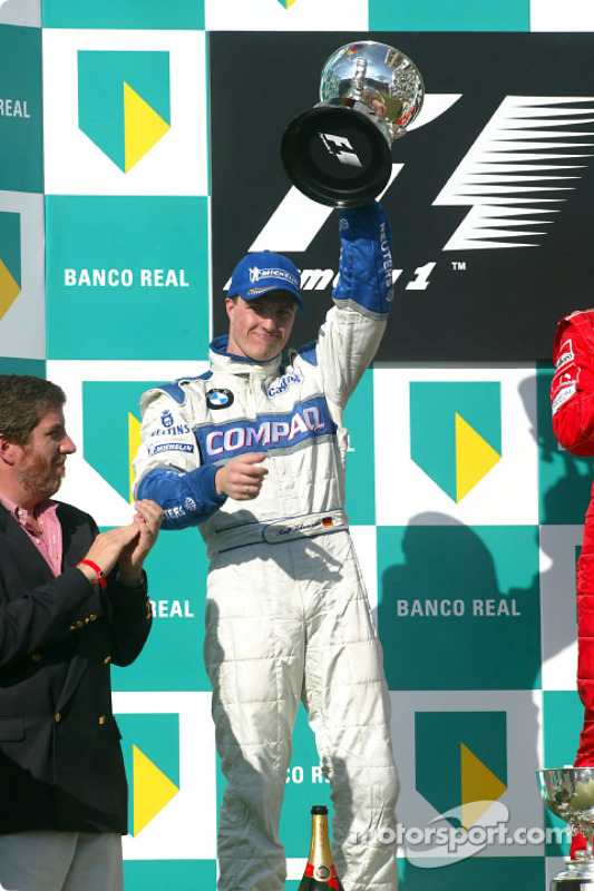 The podium: Ralf Schumacher