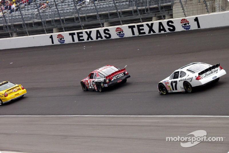 Jack Sprague and Matt Kenseth following the pace car
