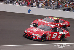 Parade lap: Bill Elliott and Elliott Sadler