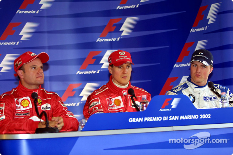 Press conference: Michael Schumacher with Rubens Barrichello and Ralf Schumacher