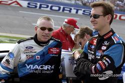 Mark Martin and Kurt Busch