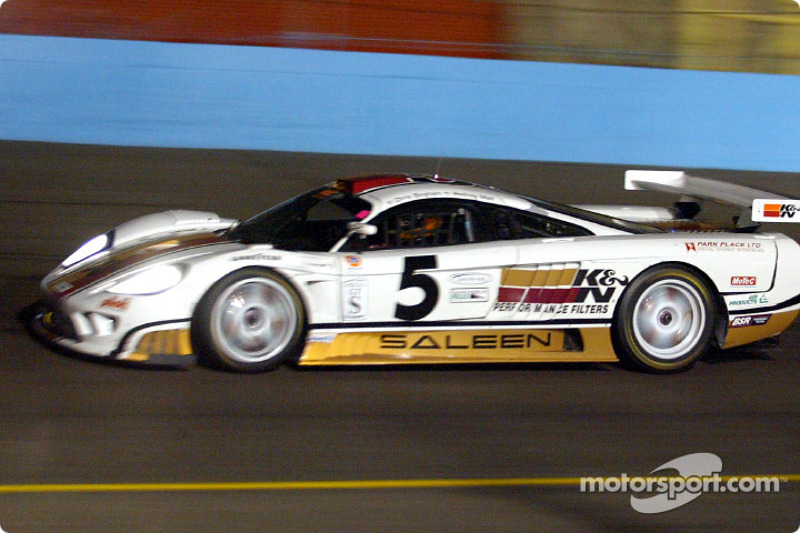 Chris Bingham showing off the new colors of K&N Performance Filters Saleen S7R