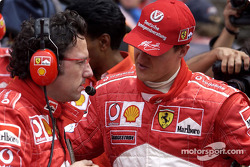 Luca Baldisserri and Michael Schumacher