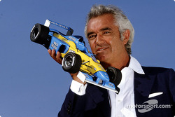 Flavio Briatore presenting the new Renault F1 miniature