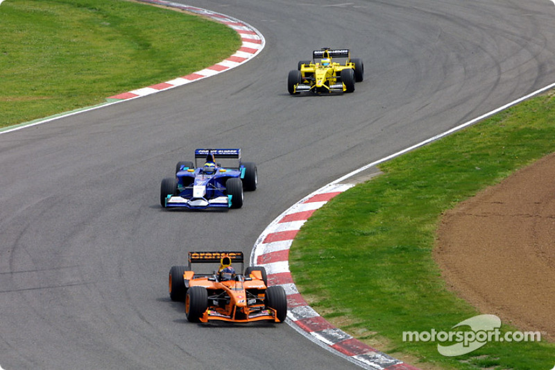Heinz-Harald Frentzen, Felipe Massa and Giancarlo Fisichella