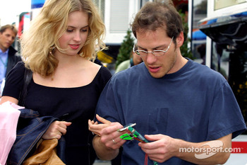Jacques Villeneuve and fiance Elly Green
