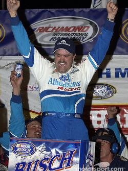 Race winner Jason Keller