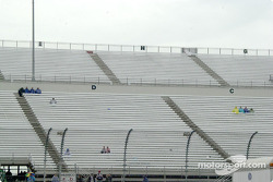 This is what the stands looked like a _ hour before the scheduled start time