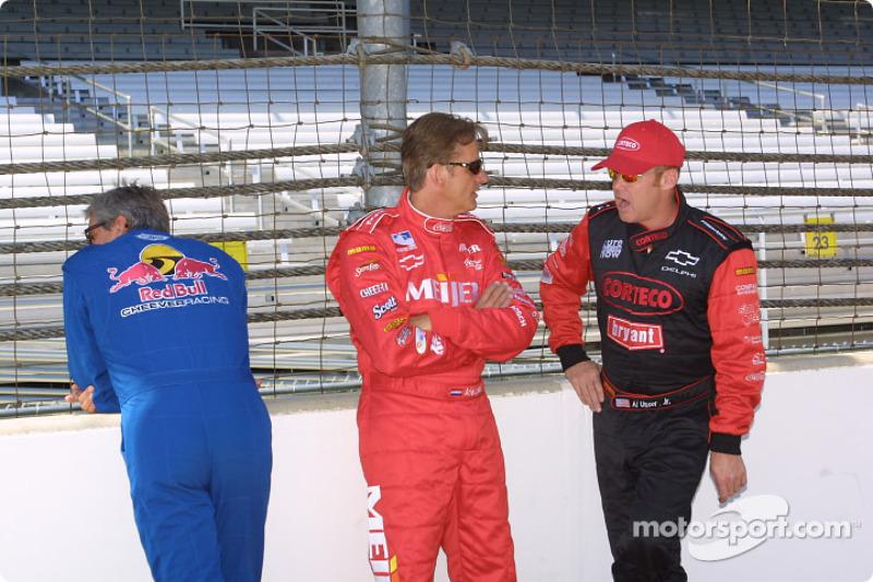 Eddie Cheever, Arie Luyendyk and Al Unser Jr.