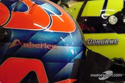 Bill Auberlen and David Donohue's helmets