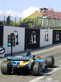 Jarno Trulli at pit exit