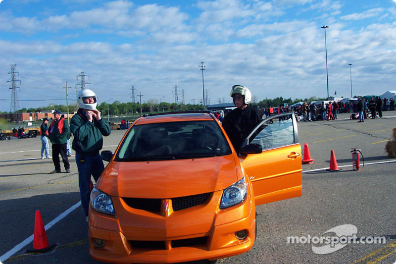 Track safety check in new Pontiac
