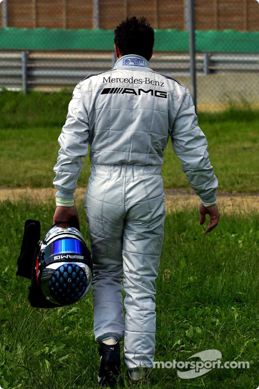 End of the day for Jean Alesi