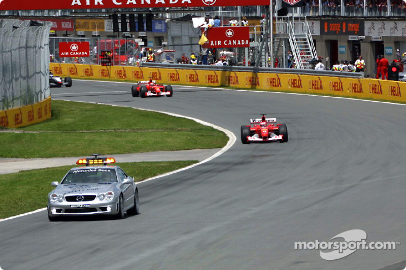 Safety car out on the track