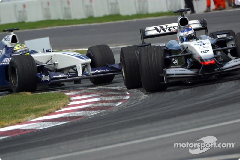 Kimi Raikkonen and Ralf Schumacher