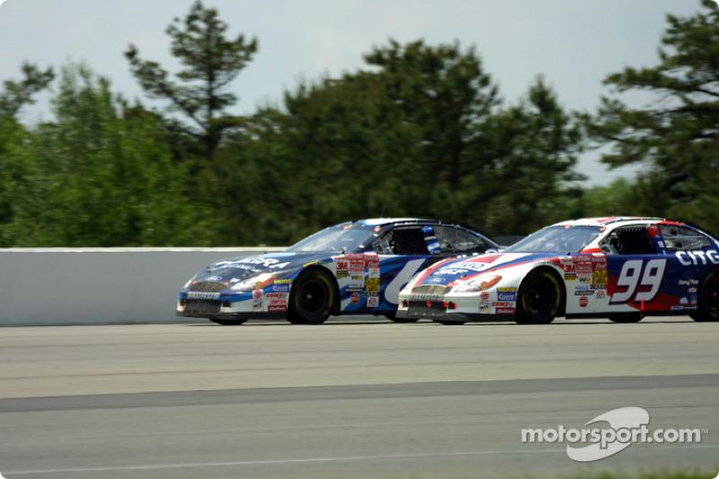 Teammates Mark Martin and Jeff Burton