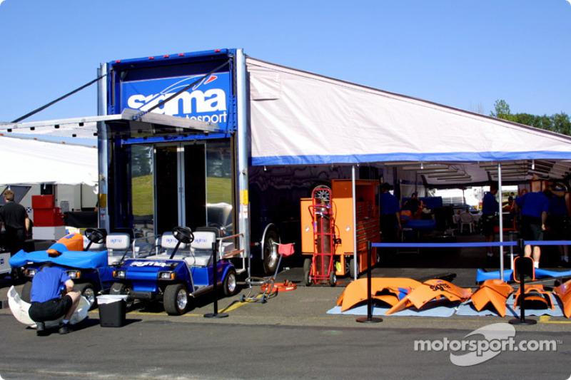 Sigma Autosport pit area