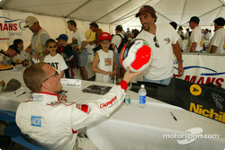Autograph session for Johnny Herbert