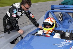 Tony Stewart behind the wheel of the #2 Judd-powered Crawford during testing for the Rolex 24 At Daytona