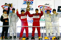 The podium finishers in the GT class at the Jani-King Paul Revere 250