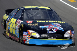 Ricky Rudd sports Gonzo on the hood of the Havoline Ford Taurus