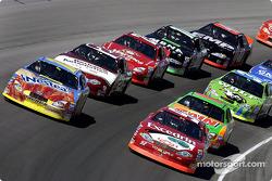 The start: Scott Riggs and Todd Bodine leading the field