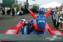 David Brabham and Jan Magnussen celebrating