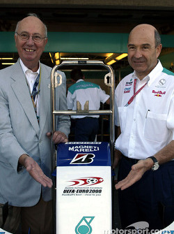 Peter Sauber with a guest