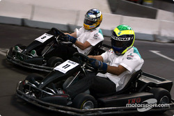 Go-kart with Felipe Massa and Nick Heidfeld