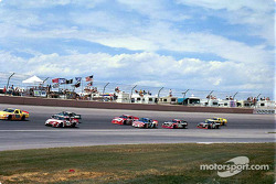 Race action in turn four