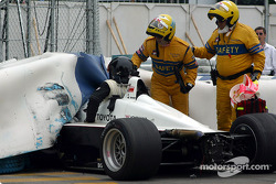 Carl Russo getting out of the car