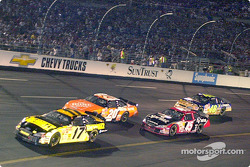 Matt Kenseth takes the lead