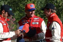 The winning trio: Fredy Lienhard Jr., Fredy Lienhard and Didier Theys