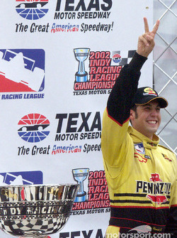 Race winner and IRL 2002 Champion Sam Hornish Jr.